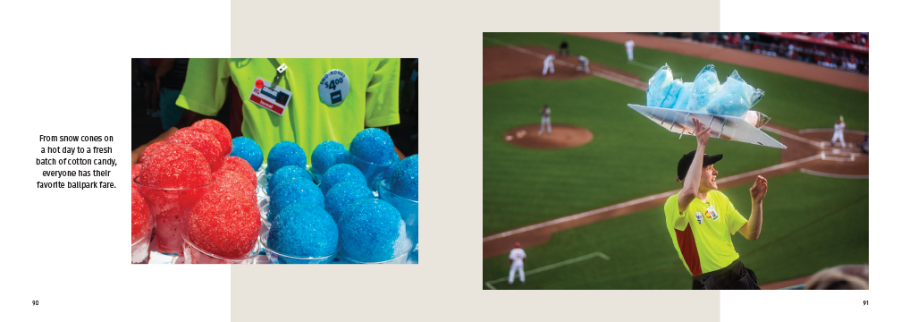 snow cones and cotton candy on sale during a game